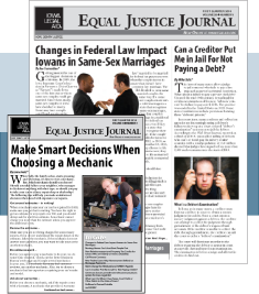 First quarter 2014 issue of the Equal Justice Journal