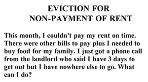 Eviction for Nonpayment of Rent